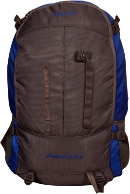 Attache Hiking Backpack (Royal Blue & Grey) With Rain Cover Rucksack  - 35 L