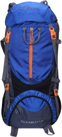 Gleam 0109 Climate Proof Mountain / Hiking / Trekking / Campaign Bag / Backpack 75 ltrs Royal Blue & Grey with Rain Cover Rucksack - 75 L(Multicolor)