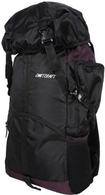 Justcraft Rocky Black and Dark Purple Trekking Rucksack - 45 L(Purple)