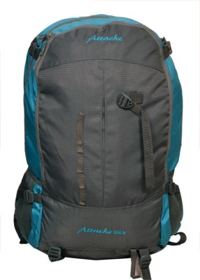Attache Hiking Backpack (Blue & Grey) With Rain Cover Rucksack  - 35 L