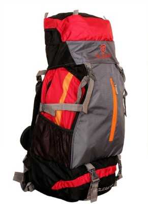 Gleam 2209 Climate Proof Mountain Campaign / Hiking / Trekking Bag / Backpack 60 ltrs Red & Grey with RAIN COVER Rucksack - 60 L(Multicolor)