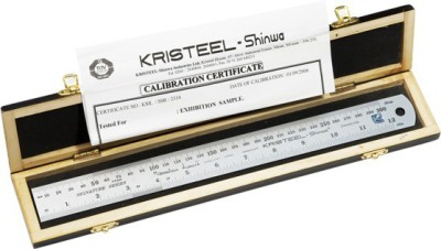 Kristeel Signature Opaque Stainless Steel Rulers(Set of 1, Steel)