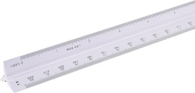 Khyati Architectural Opaque Plastic Rulers(Set of 1, White)