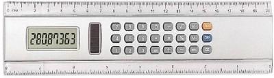 Homeshopeez Calculator Transparent Plastic Ruler(White)
