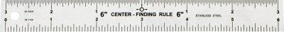 Kristeel Centre Finder Opaque Stainless Steel Rulers(Set of 2, Steel)
