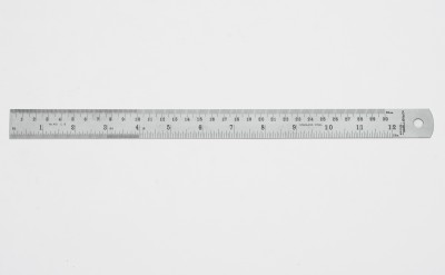 Kristeel 401 A Opaque Stainless Steel Rulers(Set of 10, Steel)