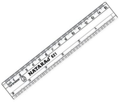 Natraj 621 Transparent Plastic Rulers(Set of 100, White)