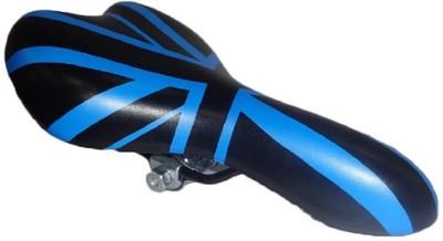 Lemon Bicycle Seat Pu Saddle(Black, Blue)