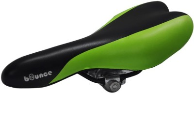 Bounce Bicycle/Cycle Seat PU Saddle(Green, Black)