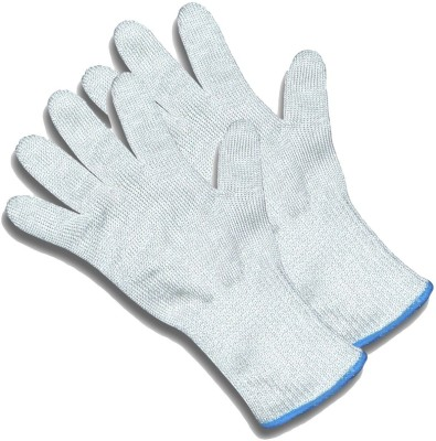 Happy Chef Cut Resistant Knife Safety Gloves - Protection From Knives, Mandoline and Graters Synthetic  Safety Gloves(2)