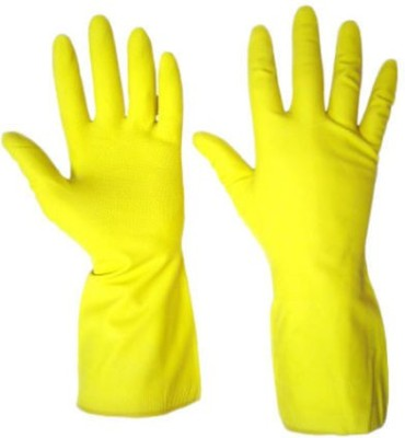 DIY Crafts Hand Gloves Washing Cleaning Rubber  Safety Gloves(2)
