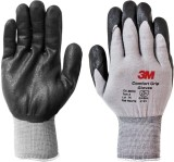 3M COMFORT GRIP GLOVES Nitrile  Safety G...