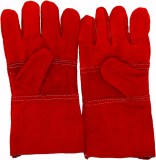 Safies Welding Gloves Red Pack of 1 Leat...