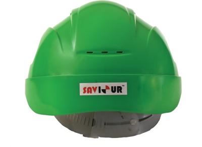 Saviour HPSAV FR SS1 G Saviour Freedom With Ratchet Hdpe -Green Construction Helmet