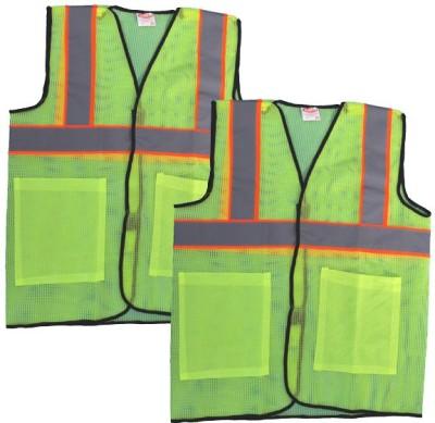 TUTU Safety Jacket(Fluorescent Green, Reflective Grey, Orange Lining)