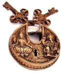 Indigo Creatives Vastu Antique Gold Look...