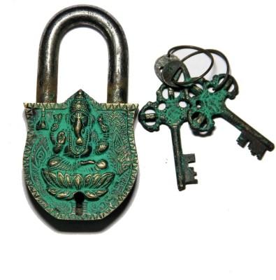Unravel India Ganesha Brass Safety Lock