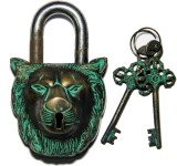 Unravel India Wolf Brass Safety Lock (Bl...