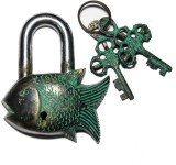 Unravel India Fish Brass Safety Lock (Bl...