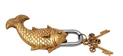 Aesthetic Decors Designer Brass Fish Shaped Safety Lock