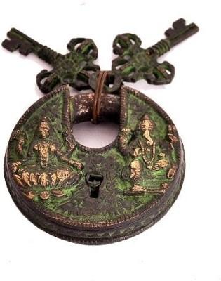 Indigo Creatives Diwali Vastu Antique Look Goddess Lakshmi + Lord Ganesha Safety Lock Safety Lock