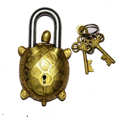Unravel India Turtle Secret Brass Safety Lock