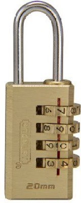 Stanley Solid Brass Combination Padlock 3DIG Safety Lock
