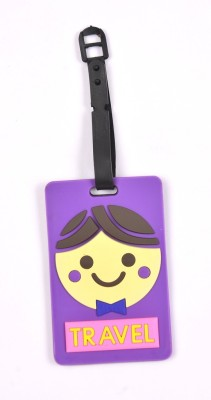 Shrisay Ventures Travel - Purple Pack Of 2 Luggage Tag