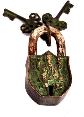 Indigo Creatives Vastu Antique Look Lord Ganesha Safety Lock Safety Lock