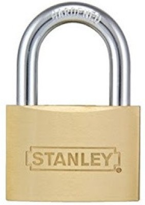 Stanley Solid Brass Shackle Padlock -60mm Safety Lock