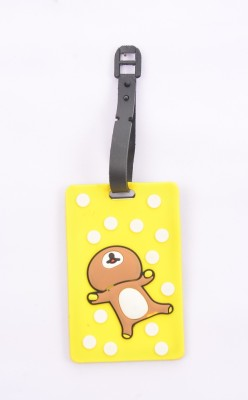 Shrisay Ventures Happy Teddy - Yellow Pack Of 2 Luggage Tag