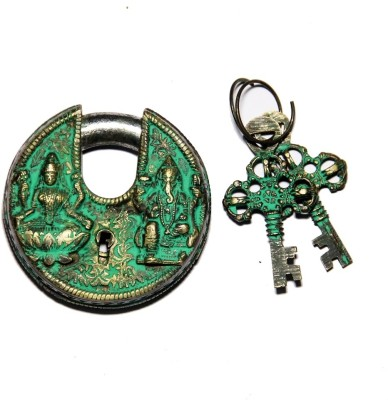 Unravel India Lakshmi Ganesha Brass Safety Lock