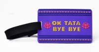 Happily Unmarried Ok Tata Luggage Tag Safety Lock(Purple) best price on Flipkart @ Rs. 199