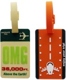 Tootpado Luggage Tag OMG 30000 FT., Enjo...