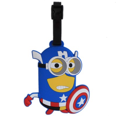 Tootpado Superhero Cartoon Design Travel Bag - 1i374 Luggage Tag