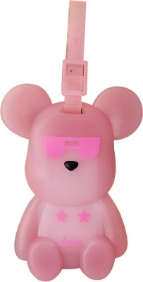 Super Drool Rock star Pink Bear Luggage Tag
