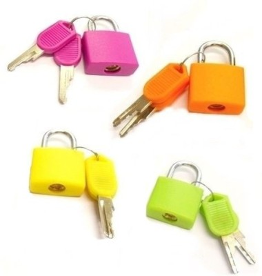 AND Retails Set of 4 Small Padlocks for Securing Luggage while Travelling Safety Lock