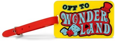 Happily Unmarried Off to Wonderland Luggage Strap