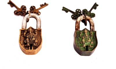 Indigo Creatives Vastu Antique look Lord Ganesha set of 2 Safety Locks Safety Lock