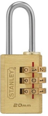 Stanley Solid Brass Combination Padlock 4DIG Safety Lock