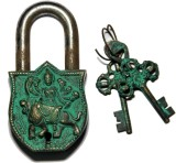 Unravel India Durga Brass Safety Lock (B...