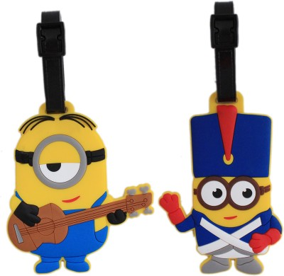 Tootpado Travel Bag - Guitar and Royal Guard Cartoon (Pack of 2) 1i423 Luggage Tag