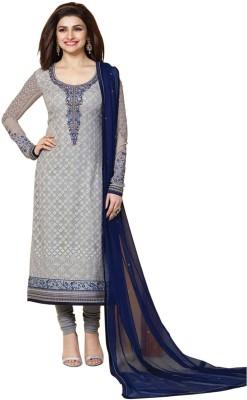 Viha Georgette Embroidered Semi-stitched Salwar Suit Dupatta Material