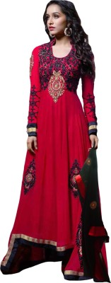 Jahnvi Georgette Embroidered Dress/Top Material