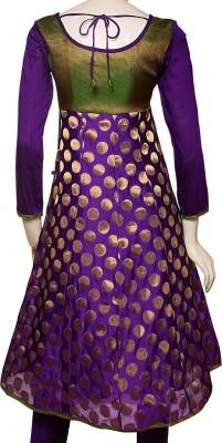 eStyle Polka Print Churidar Suit