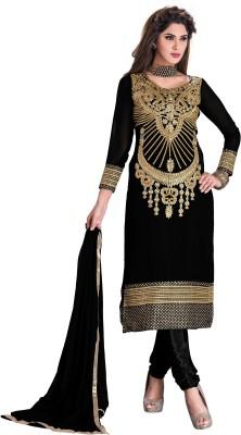 Melluha Fashion Georgette Embroidered Salwar Suit Dupatta Material