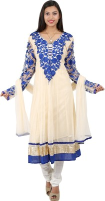Jasmine Silk Embroidered Kurta & Churidar