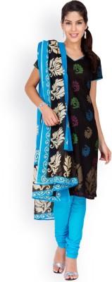 EthnicQueen Cotton Floral Print, Solid Salwar Suit Dupatta Material