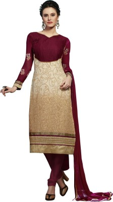 Metroz Georgette Embroidered Semi-stitched Salwar Suit Dupatta Material