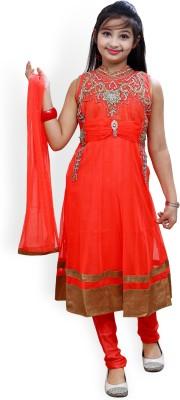 Ishika Garments Embroidered Kurta & Churidar
